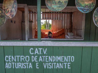 Centro de Atendimento ao Turista de Jamaraquá (Foto: Leonardo Milano/Amazônia Real)