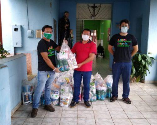 Kits de proteção e higiene são entregues em asilo de Santarém para apoiar prevenção contra covid-19
